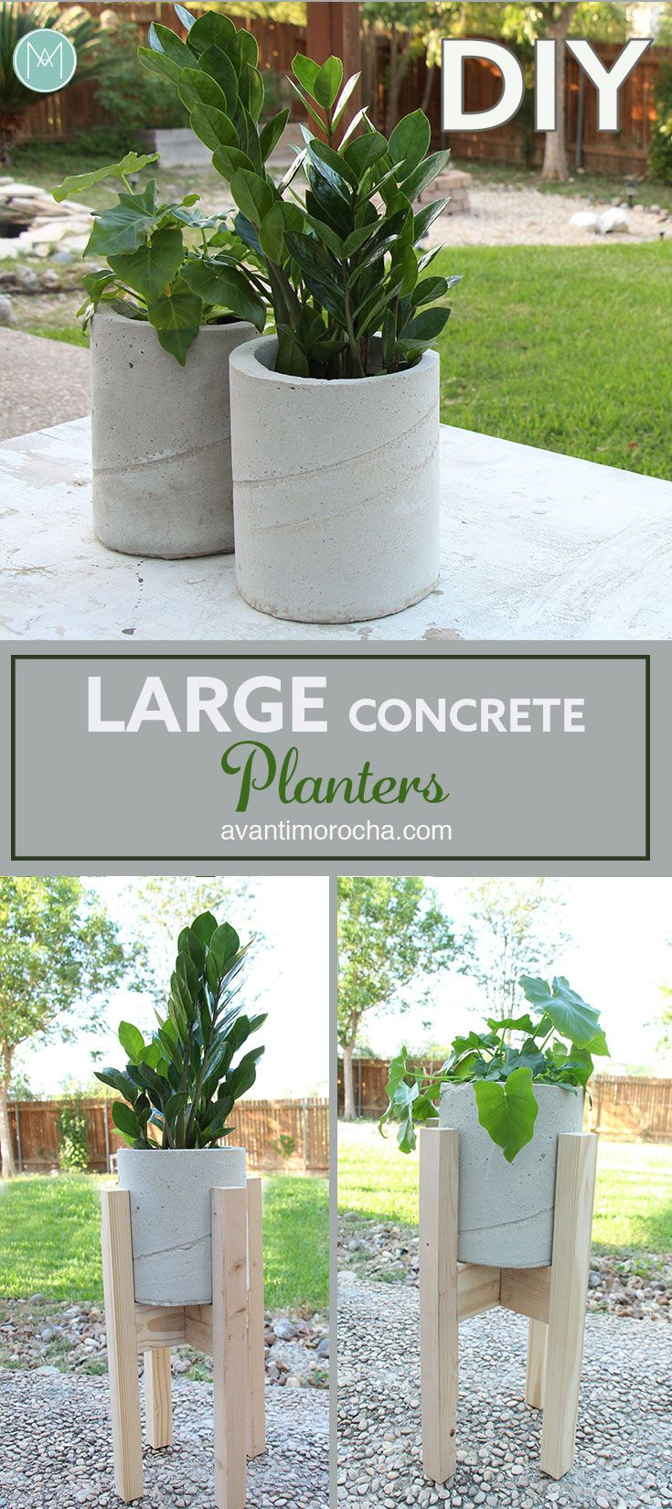 Best ideas about DIY Large Planters . Save or Pin Best 25 Diy concrete planters ideas on Pinterest Now.