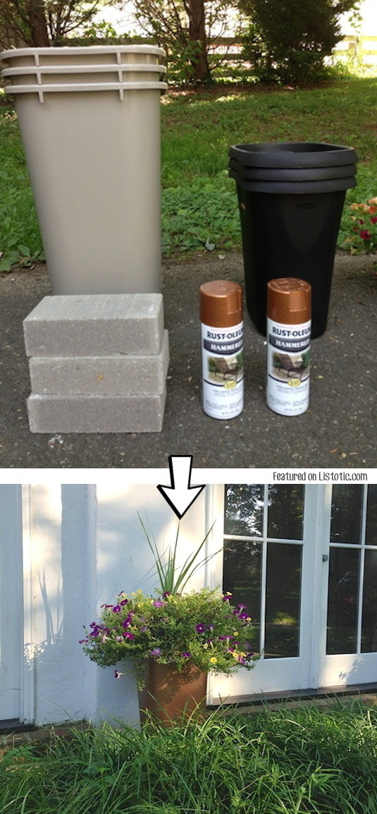 Best ideas about DIY Large Planters . Save or Pin 29 Amazing Spray Painting Ideas to Redecorate Your Home Now.