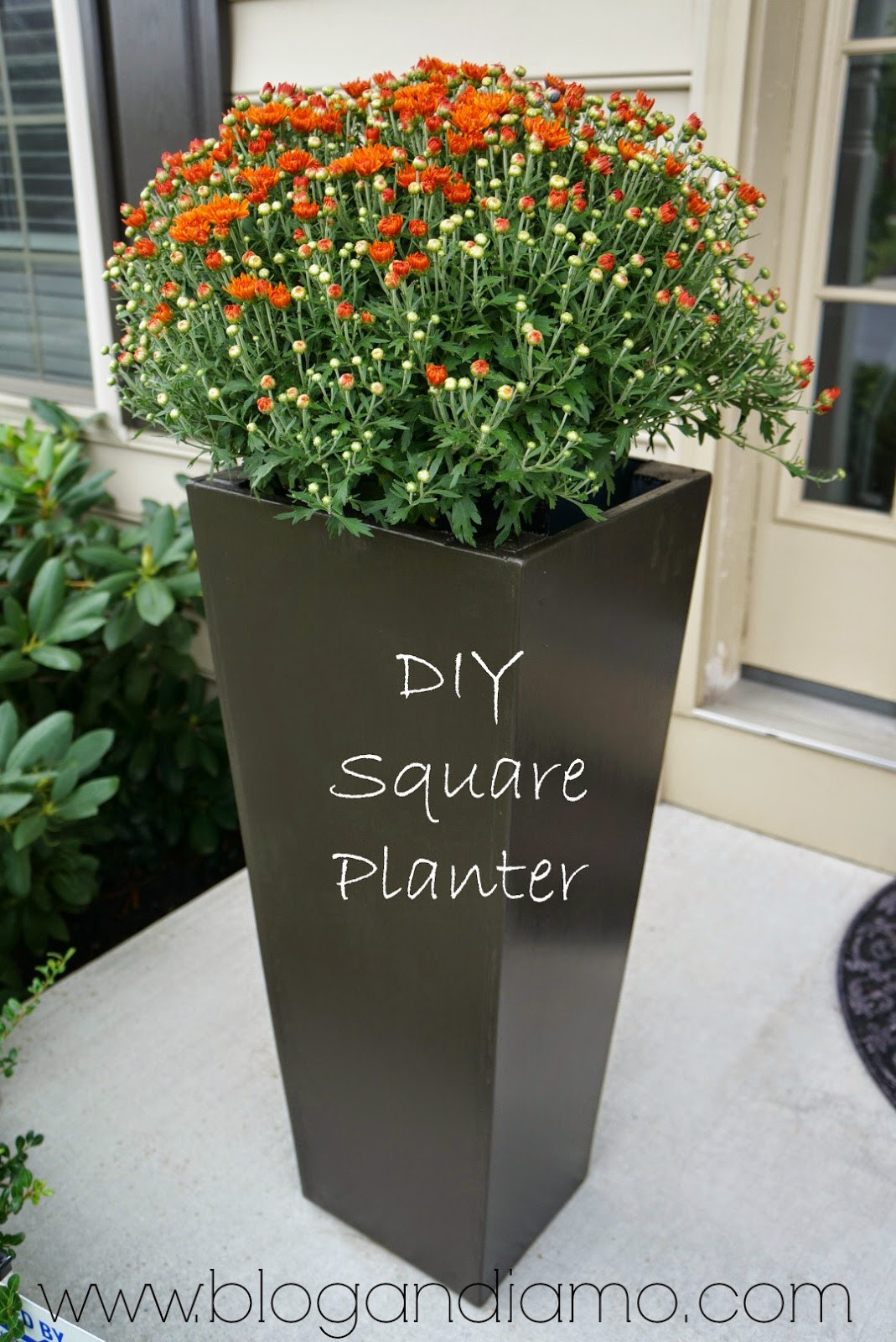 Best ideas about DIY Large Planters . Save or Pin tall square planters Now.