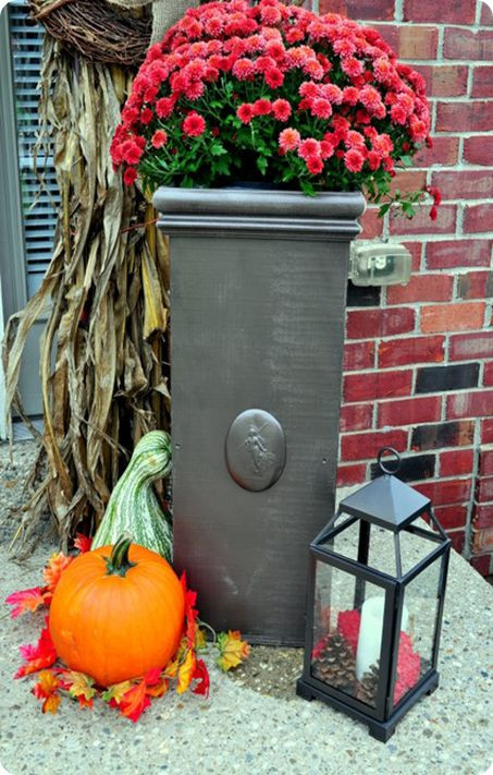 Best ideas about DIY Large Planters . Save or Pin Wood Column Planters For the Home Now.