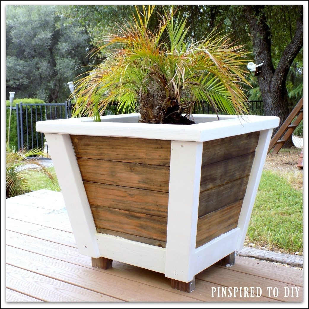 Best ideas about DIY Large Planters . Save or Pin DIY Farmhouse Planter Now.