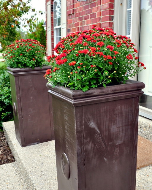 Best ideas about DIY Large Planters . Save or Pin Outdoor Planter Projects Now.