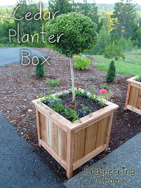 Best ideas about DIY Large Planters . Save or Pin Pretty Front Porch DIY Cedar Planter Boxes Now.