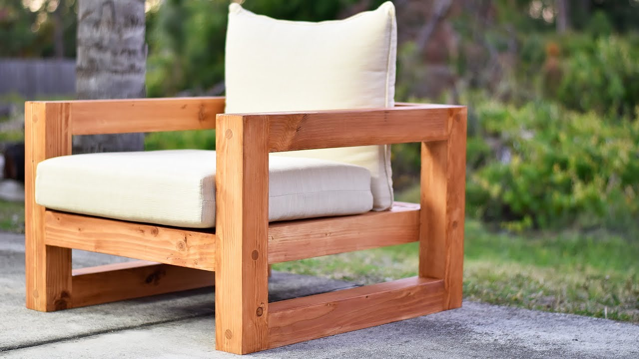 Best ideas about DIY Lawn Furniture . Save or Pin DIY Modern Outdoor Chair Now.