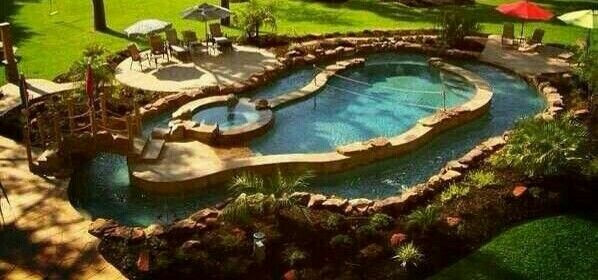 Best ideas about DIY Lazy River . Save or Pin Pool Lazy River Hot Tub diy inspiration Fun Now.