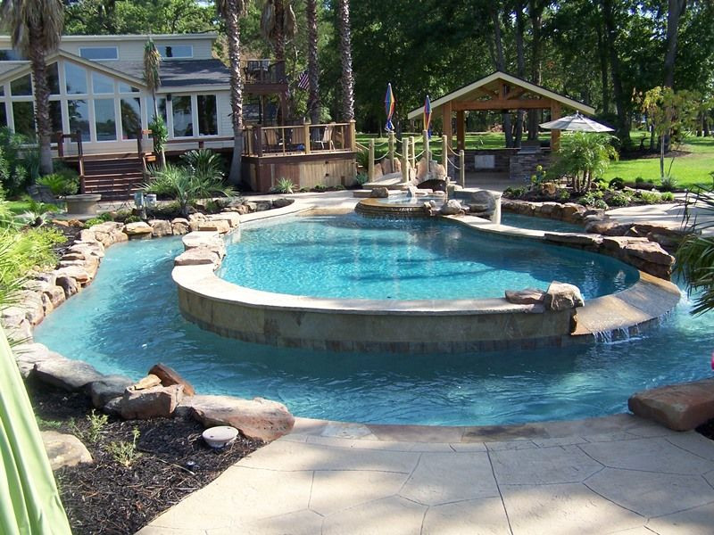Best ideas about DIY Lazy River . Save or Pin A pool and a lazy river Custom Inground Pool Built in Now.
