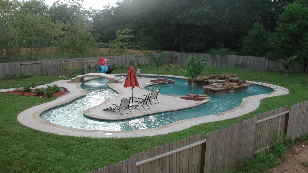 Best ideas about DIY Lazy River . Save or Pin Homemade waterfall ideas back yard lazy river pool Now.