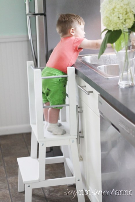Best ideas about DIY Learning Tower . Save or Pin Easy DIY Learning Tower Sweet Anne Designs Now.