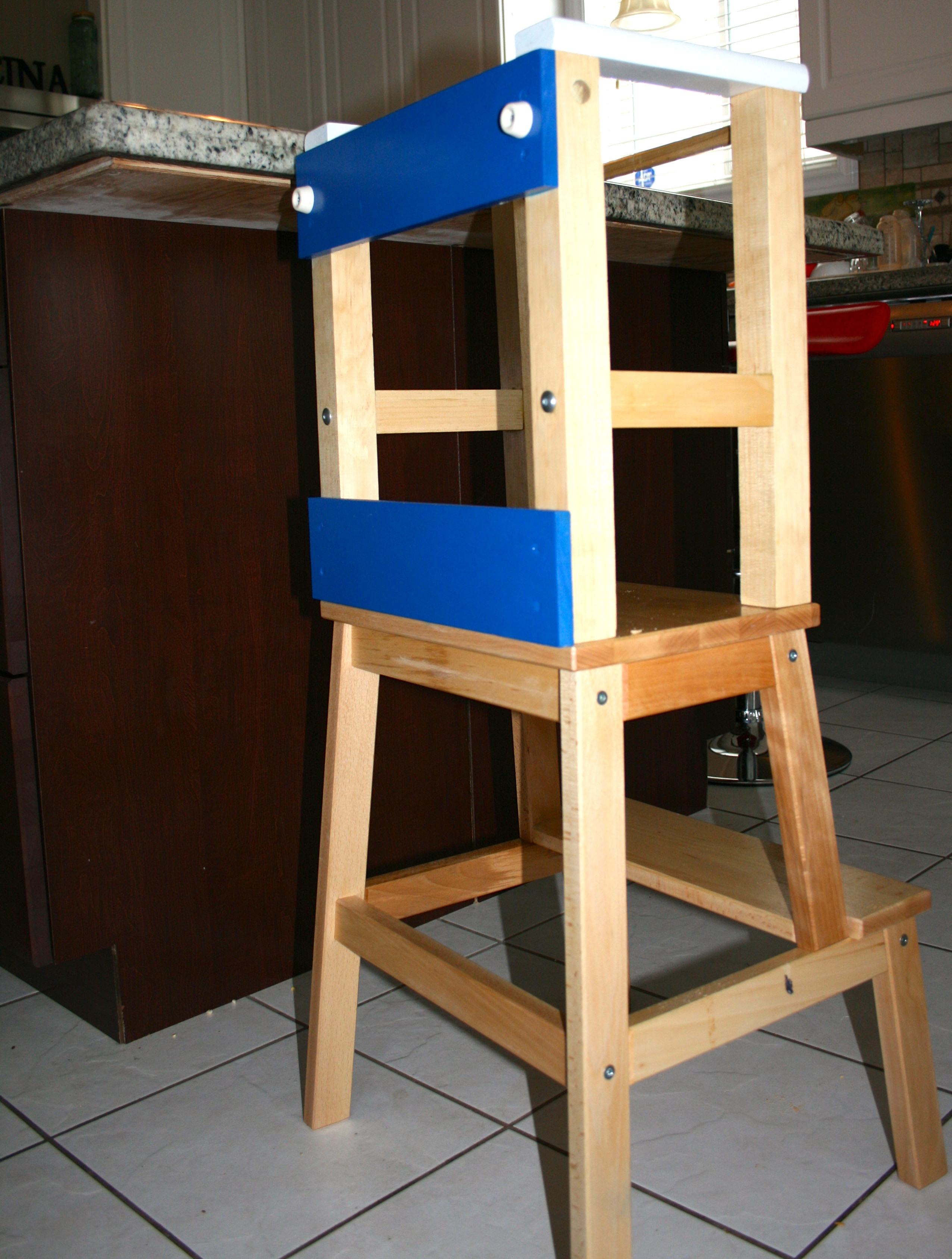 Best ideas about DIY Learning Tower . Save or Pin He climbs – so I let him…sorta DIY Learning tower Now.