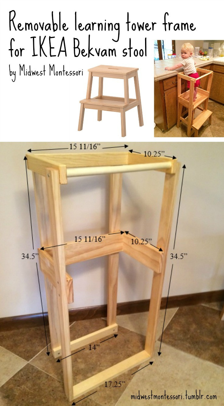 Best ideas about DIY Learning Tower . Save or Pin Midwest Montessori — Our DIY IKEA Bekvam learning tower Now.