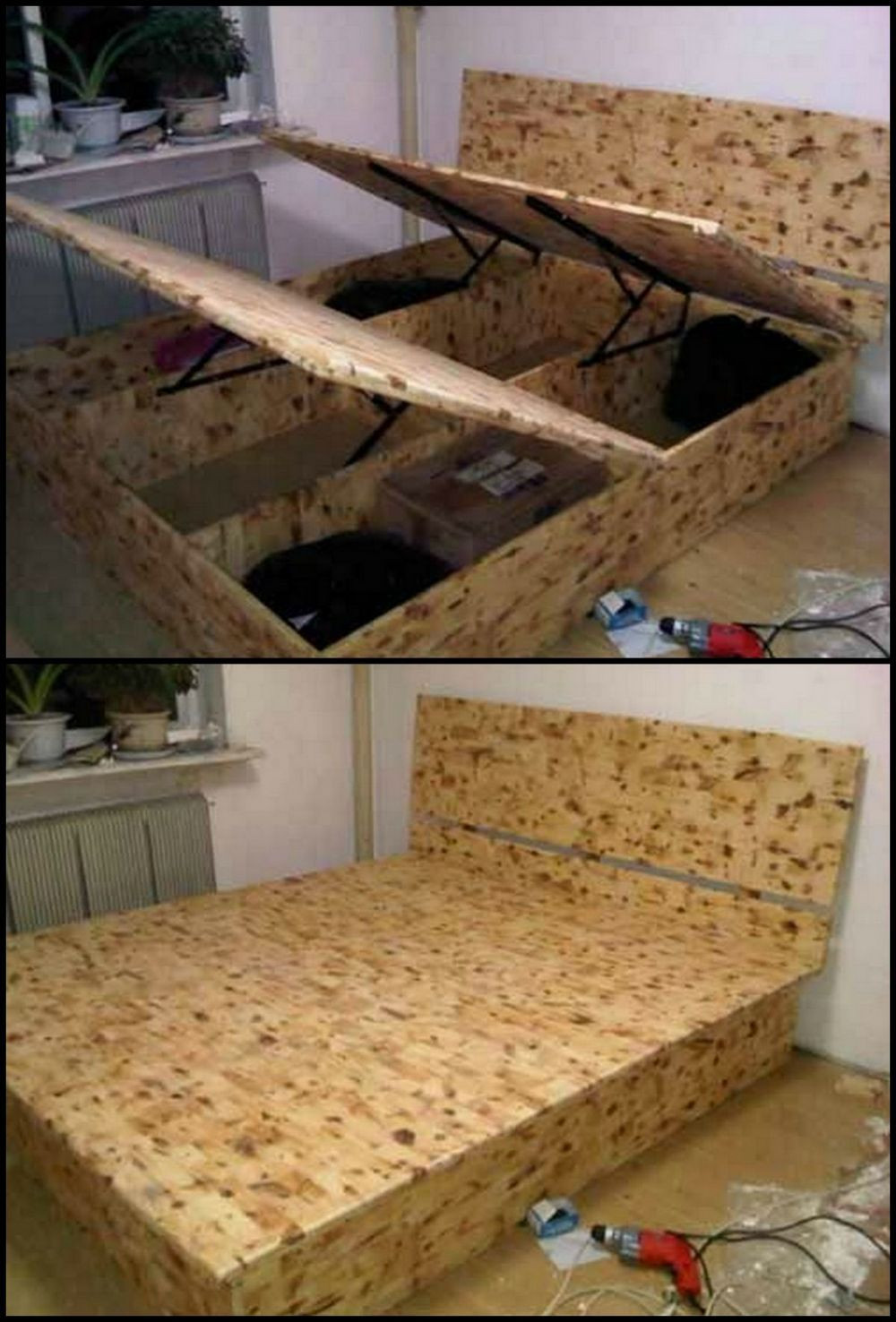 Best ideas about DIY Lift Storage Bed . Save or Pin How To Build A Lift Top Storage Bed Now.