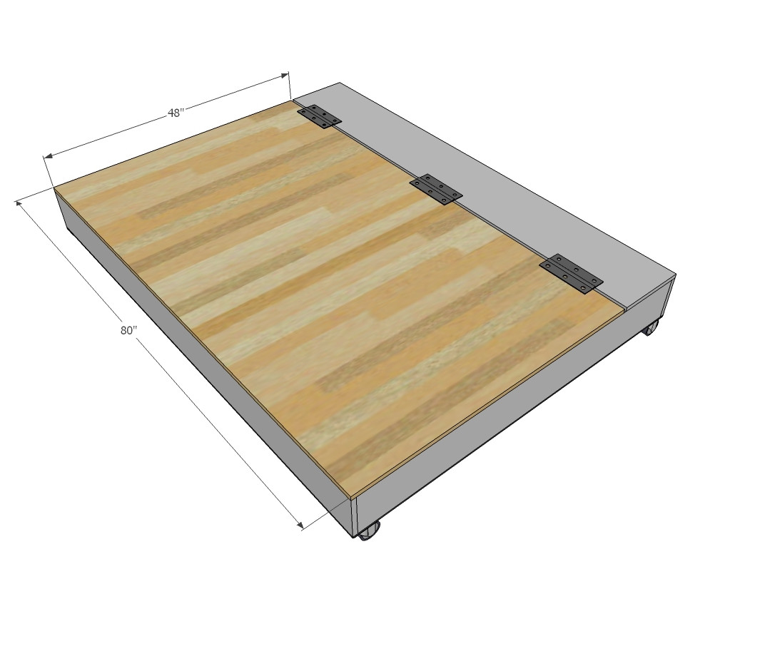 Best ideas about DIY Lift Storage Bed . Save or Pin Ana White Now.