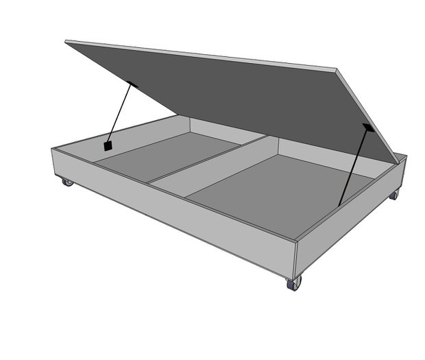 Best ideas about DIY Lift Storage Bed . Save or Pin DIY Storage Bed Projects • The Bud Decorator Now.