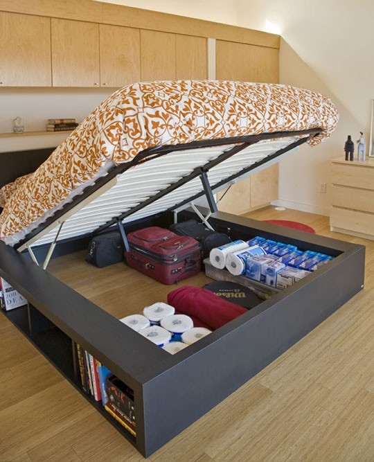 Best ideas about DIY Lift Storage Bed . Save or Pin Any idea how I could make this bed DIY Now.