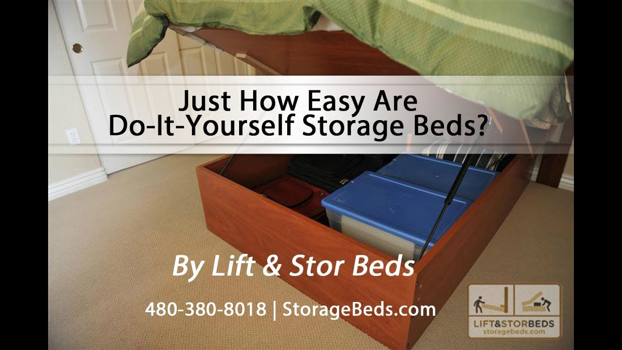 Best ideas about DIY Lift Storage Bed . Save or Pin Just How Easy Are Do It Yourself Storage Beds From Lift Now.