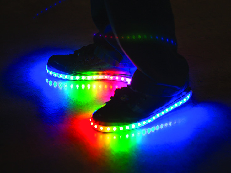 Best ideas about DIY Light Up Shoes . Save or Pin Luminous Lowtops DIY Clothing Now.