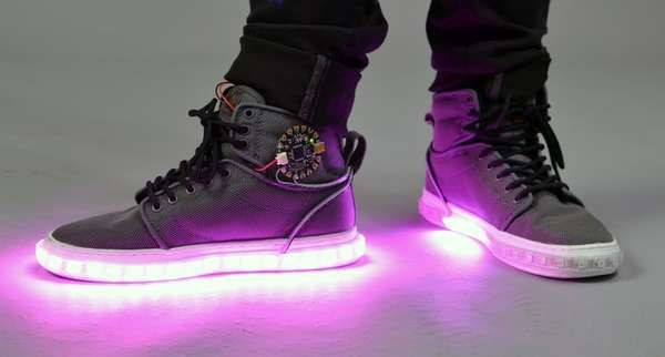 Best ideas about DIY Light Up Shoes . Save or Pin DIY LED High Tops Kicks Now.