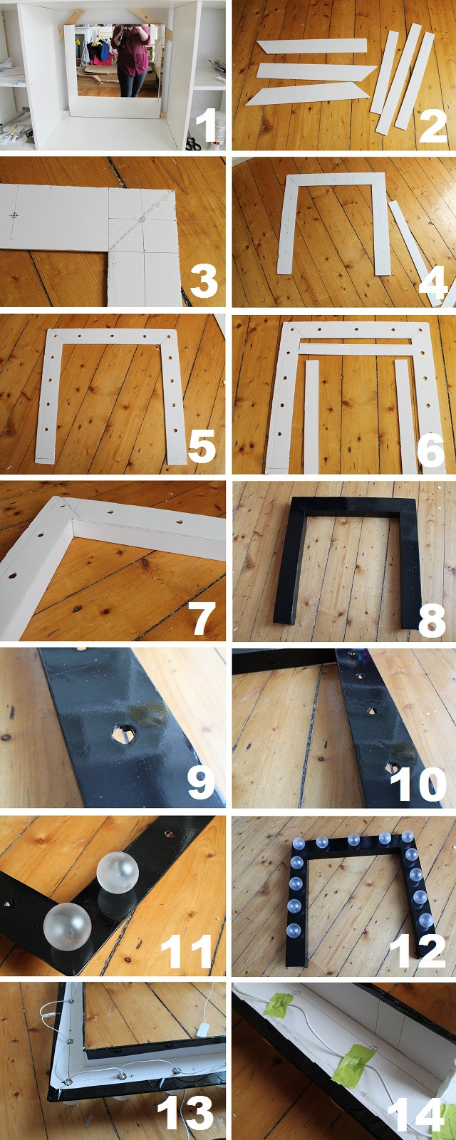 Best ideas about DIY Lighted Mirror . Save or Pin 1 First fix your mirror to the wall or your unit You Now.