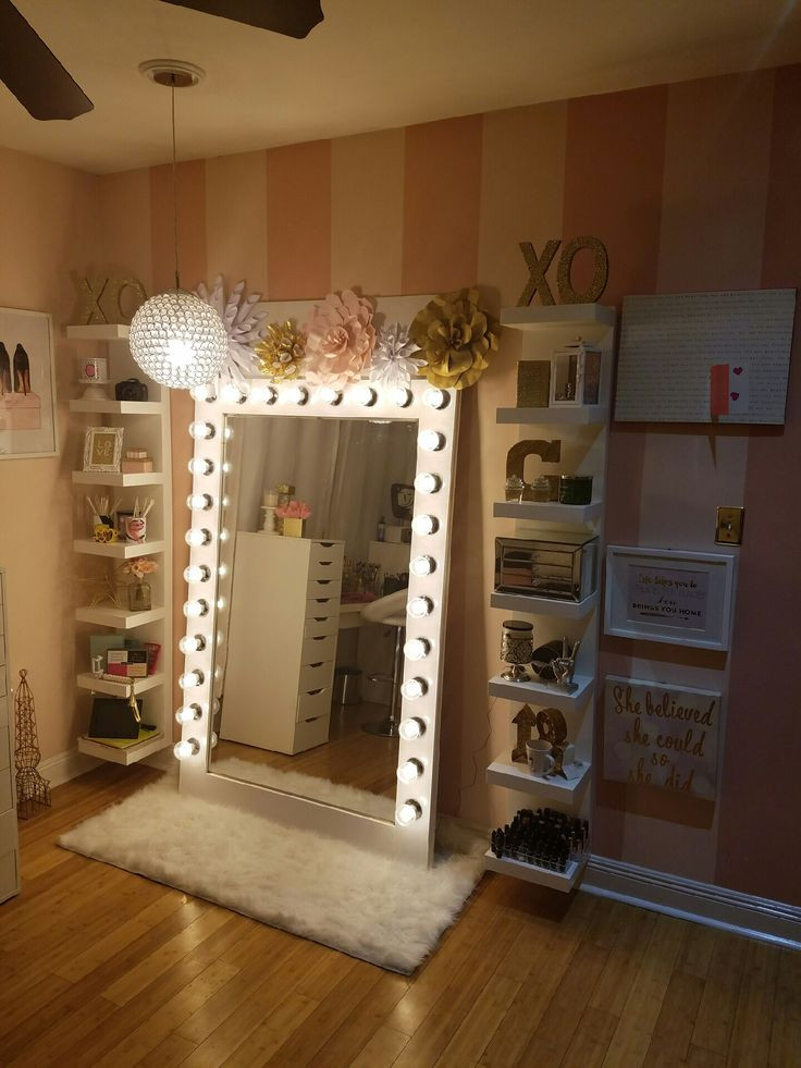 Best ideas about DIY Lighted Mirror . Save or Pin 25 best ideas about Diy vanity mirror on Pinterest Now.