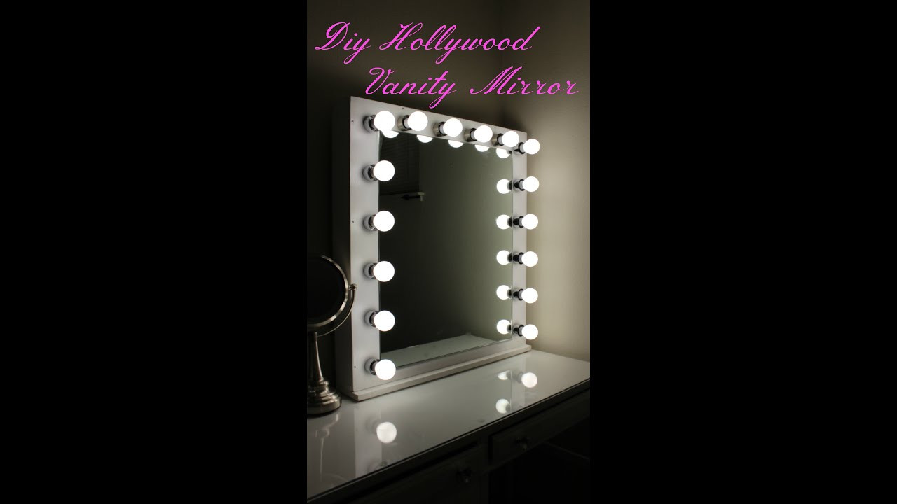Best ideas about DIY Lighted Mirror . Save or Pin DIY Hollywood Vanity Mirror With Lights Now.