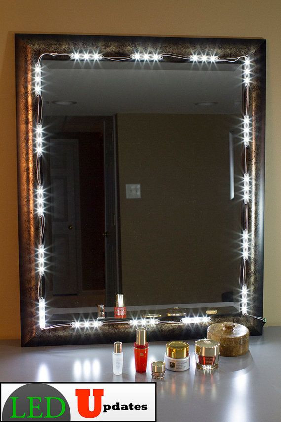 Best ideas about DIY Lighted Mirror . Save or Pin Best 25 Mirror with led lights ideas on Pinterest Now.