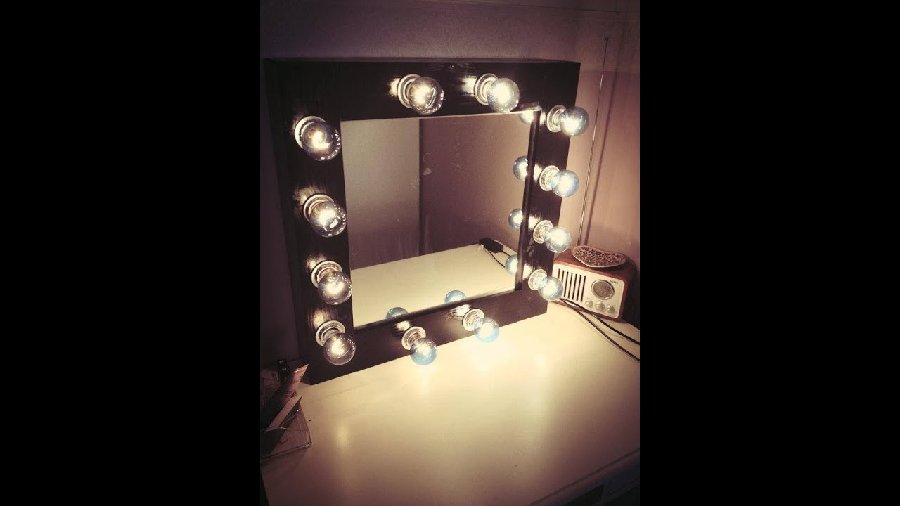 Best ideas about DIY Lighted Mirror . Save or Pin DIY MAKEUP MIRROR with Lights Now.