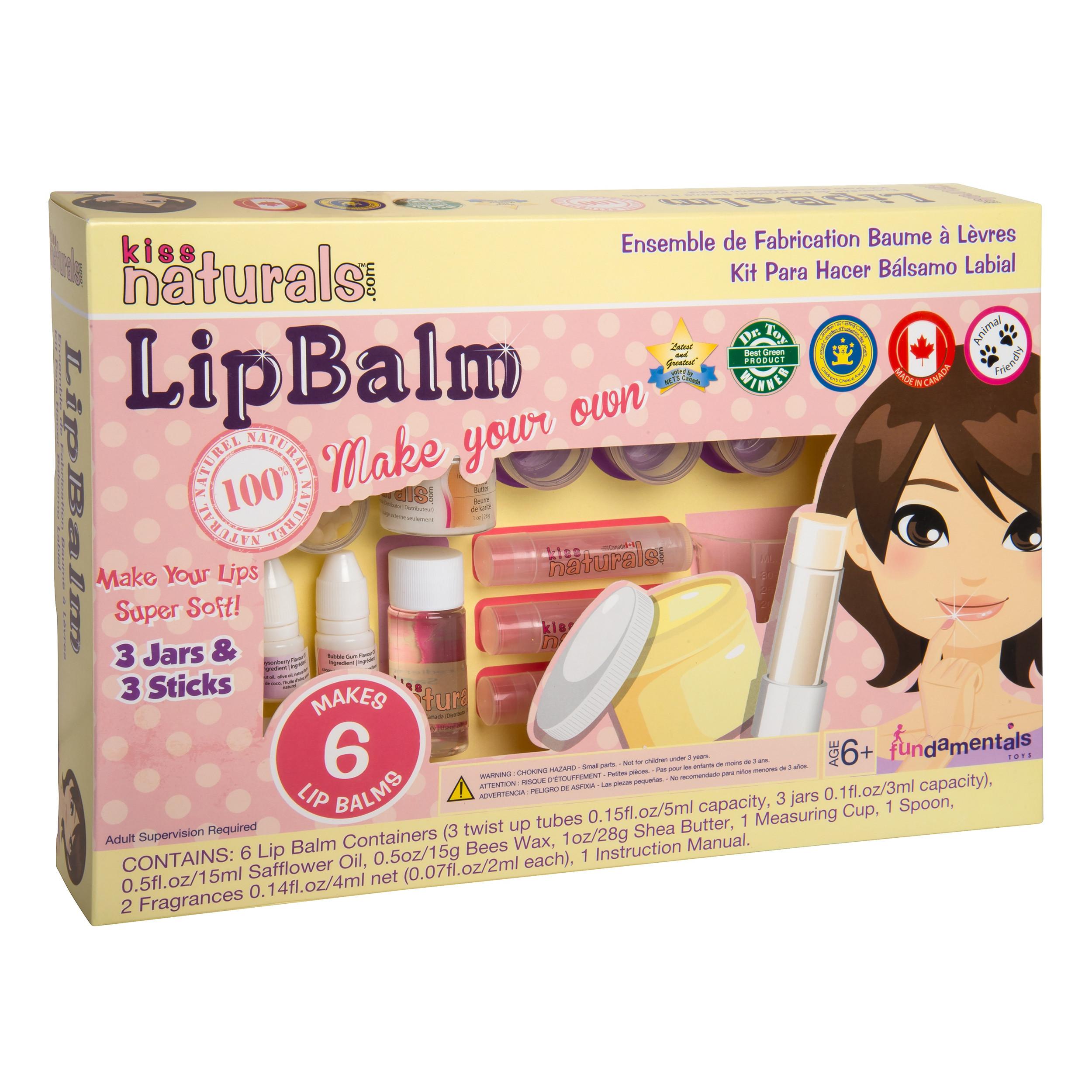 Best ideas about DIY Lip Gloss Kits . Save or Pin FUNDAMENTAL TOYS Kiss Naturals DIY Lip Balm Making Kit Now.