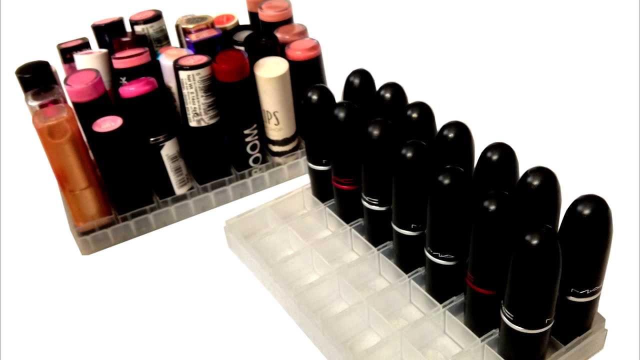 Best ideas about DIY Lipstick Organizer . Save or Pin DIY Clear Lipstick Holder Now.