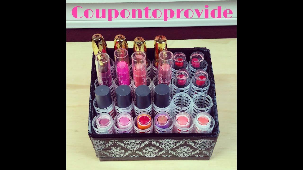 Best ideas about DIY Lipstick Organizer . Save or Pin DIY 24 Lipstick Holder Organizer Now.