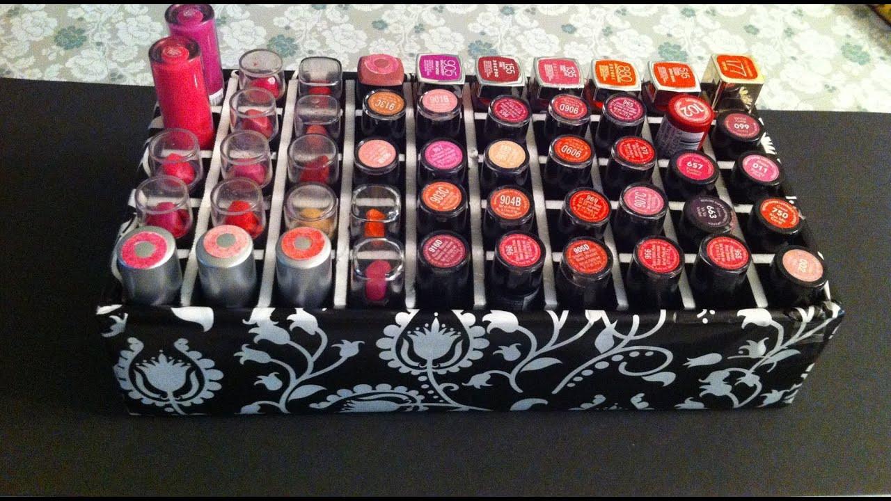 Best ideas about DIY Lipstick Organizer . Save or Pin DIY ORGANIZADOR DE LABIALES LIPSTICK ORGANIZER Now.