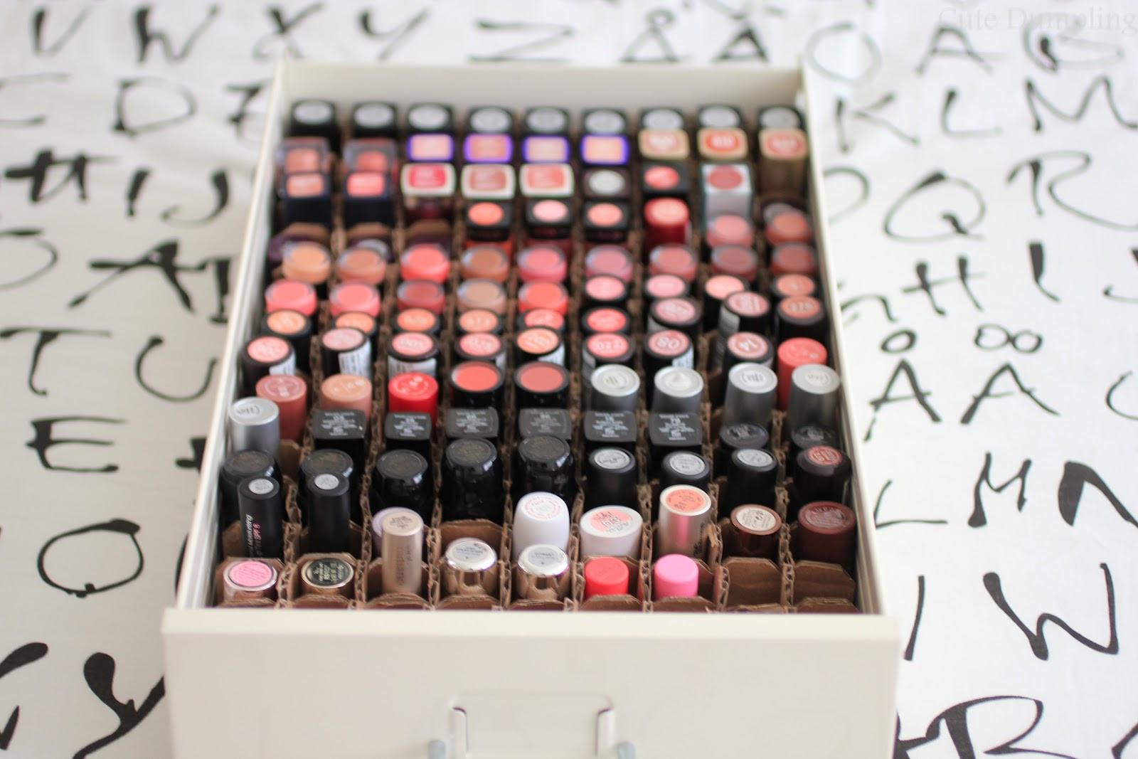Best ideas about DIY Lipstick Organizer . Save or Pin Cute Dumpling DIY Lipstick Organizer Now.