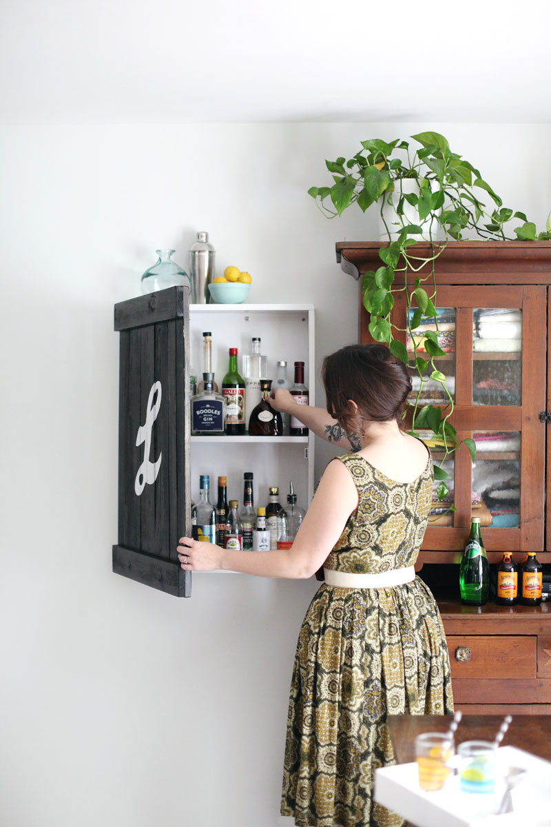Best ideas about DIY Liquor Cabinet . Save or Pin Build a Vintage Inspired Liquor Cabinet – A Beautiful Mess Now.