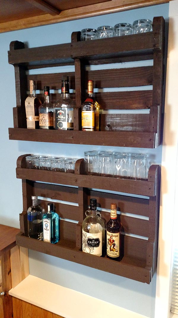 Best ideas about DIY Liquor Cabinet . Save or Pin DIY Pallet Wood Liquor Cabinet Home Construction Improvement Now.