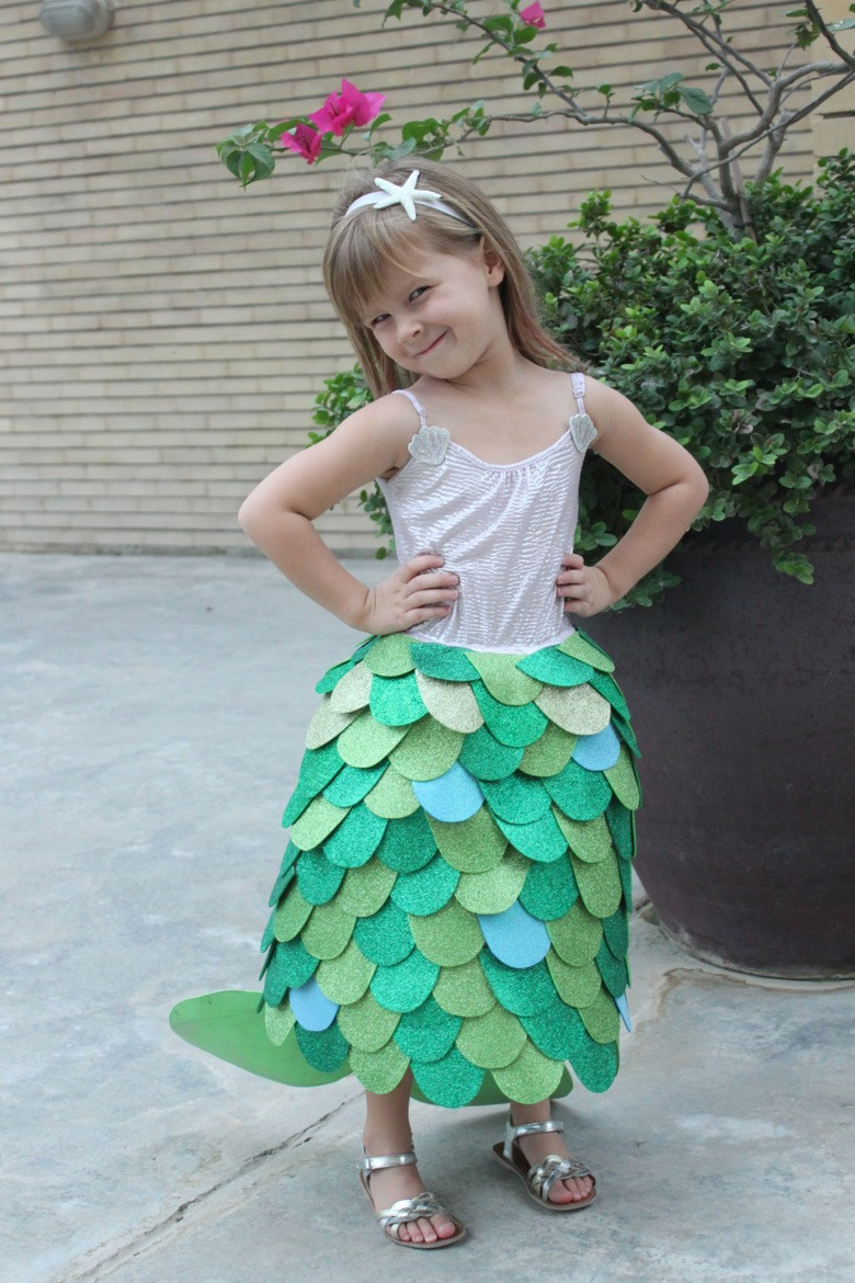 Best ideas about DIY Little Mermaid Costume . Save or Pin Homemade Mermaid Costume Mama Papa Bubba Now.