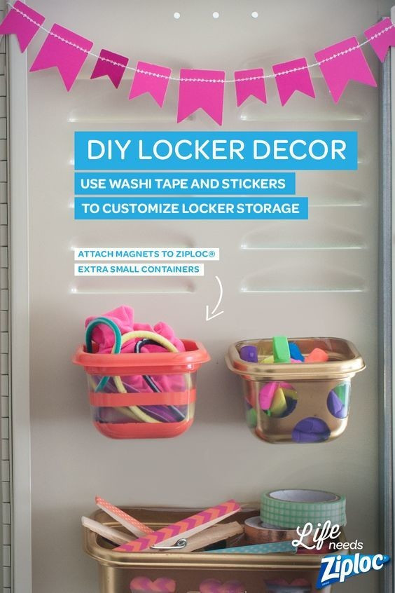 Best ideas about DIY Locker Decorations And Organization . Save or Pin DIY Hanging Locker Storage DIY Back To School Supplies Now.