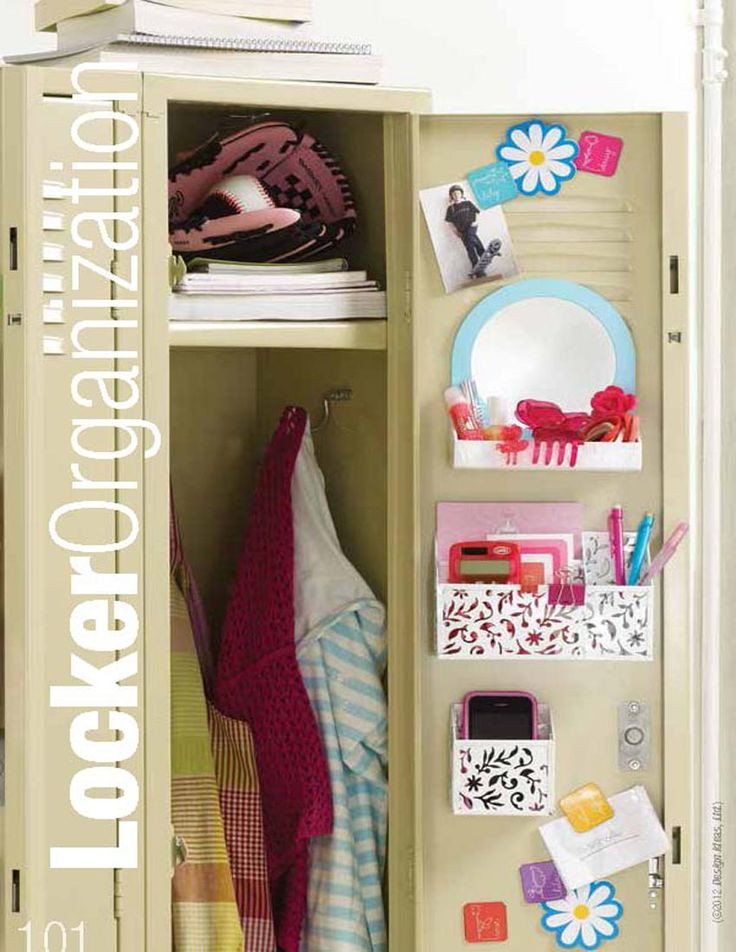 Best ideas about DIY Locker Decorations And Organization . Save or Pin Keep your locker neat and tidy at all times Organization Now.