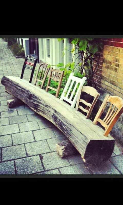 Best ideas about DIY Log Bench . Save or Pin 15 DIY Wood Log Ideas for your Garden Decor Now.