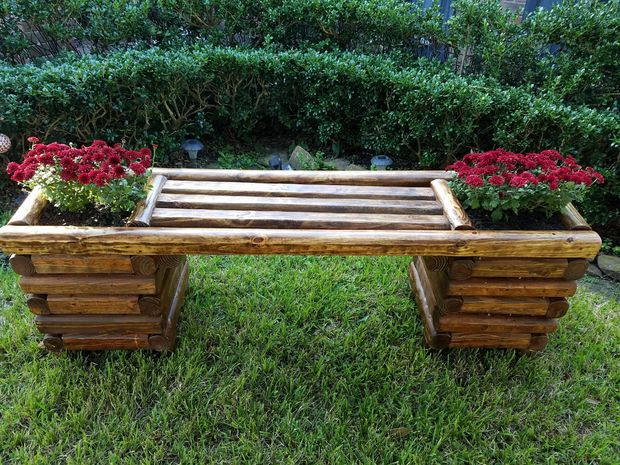 Best ideas about DIY Log Bench . Save or Pin Diy Log Bench 6 Steps with Now.
