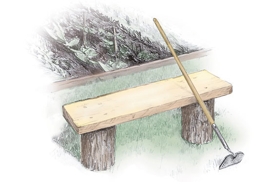 Best ideas about DIY Log Bench . Save or Pin 3 Easy to Build Outdoor Benches DIY MOTHER EARTH NEWS Now.