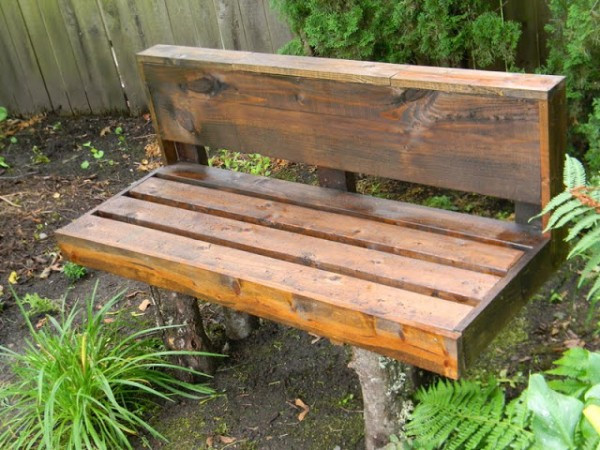 Best ideas about DIY Log Bench . Save or Pin 16 Amazing e Day Garden Projects Now.