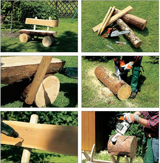 Best ideas about DIY Log Bench . Save or Pin DIY Decorative Log Bench Now.