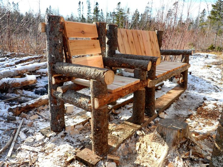 Best ideas about DIY Log Bench . Save or Pin Homemade Benches Designs WoodWorking Projects & Plans Now.