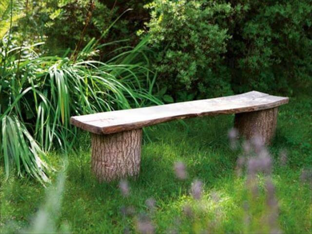 Best ideas about DIY Log Bench . Save or Pin 11 DIY Outdoor Table And Bench Design Now.