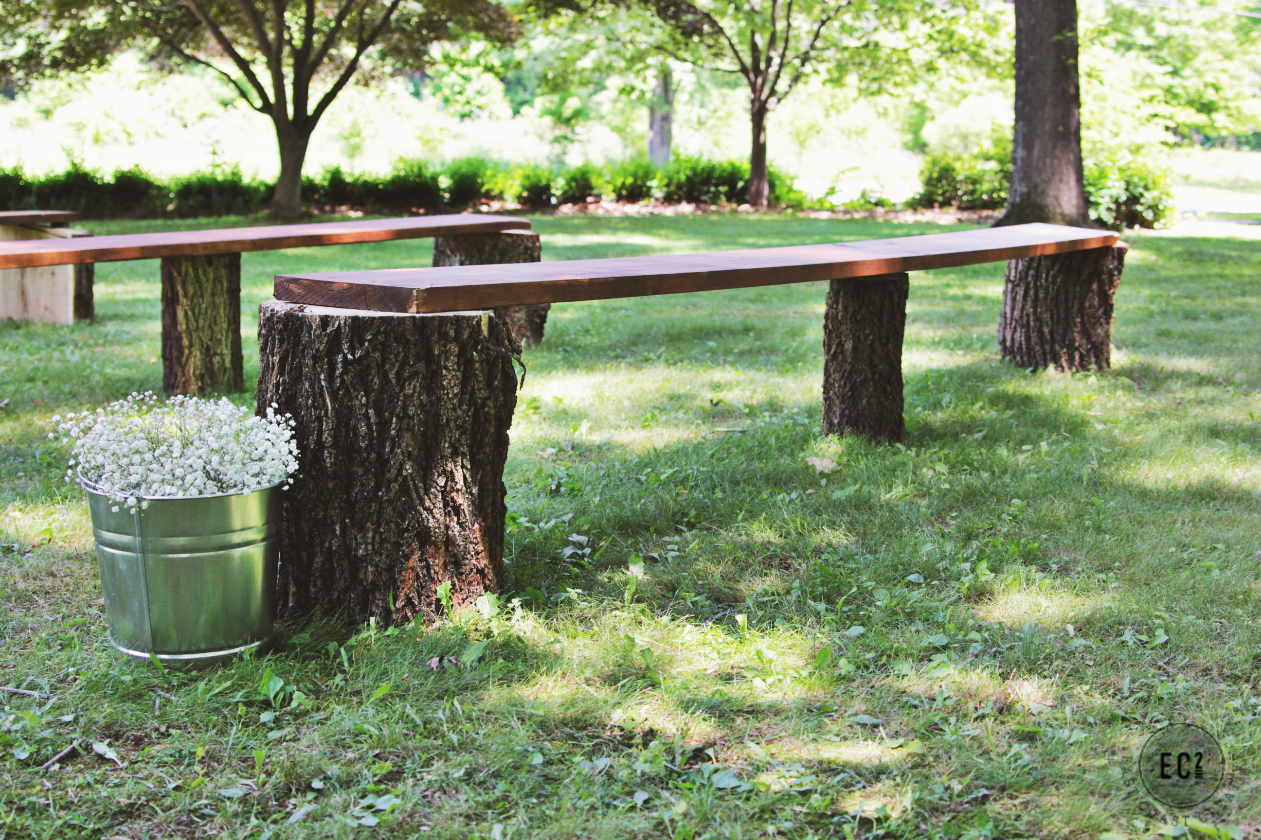 Best ideas about DIY Log Bench . Save or Pin DIY Wedding Seating Rustic Log Benches Now.