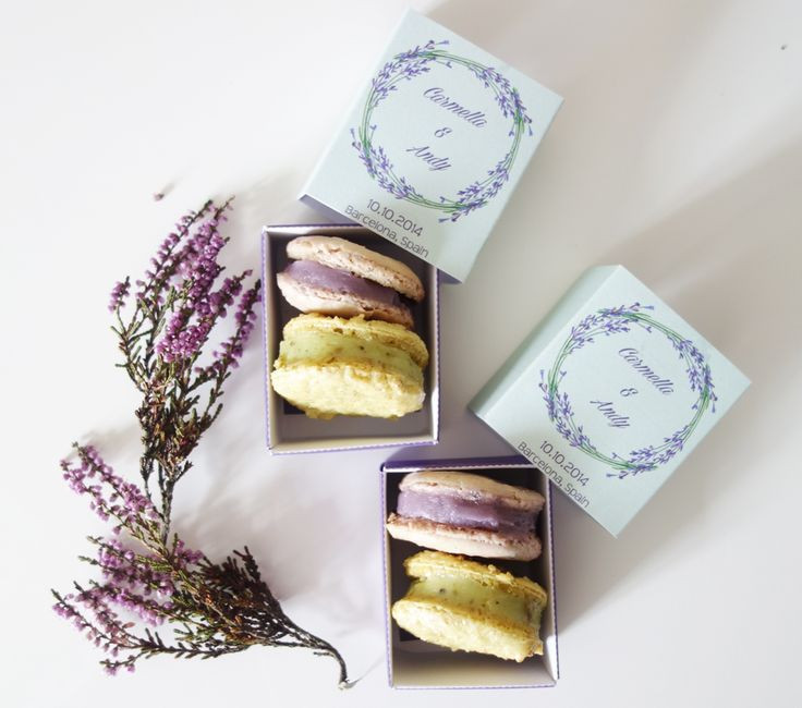 Best ideas about DIY Macaron Box . Save or Pin DIY Lavender and Pistachio Macarons Wedding favor Boxes Now.