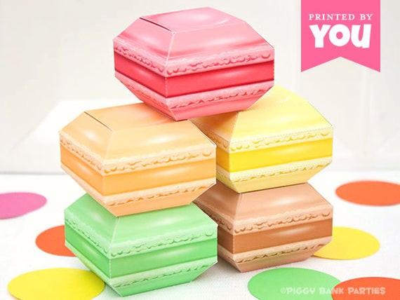 Best ideas about DIY Macaron Box . Save or Pin French Macaron Favor Box Set DIY Printable Macaroon PDF Now.