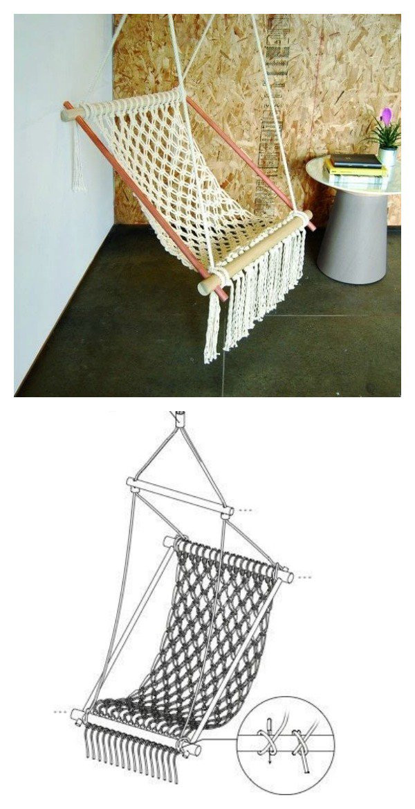 Best ideas about DIY Macrame Chair . Save or Pin DIY Hanging Macrame Chair Now.