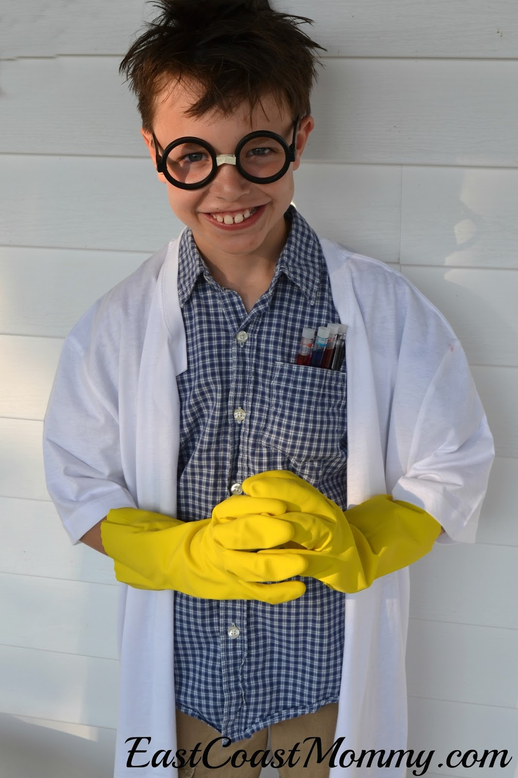 Best ideas about DIY Mad Scientist Costume . Save or Pin East Coast Mommy 5 Minute no sew Costumes Now.