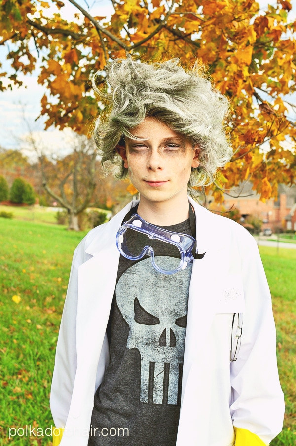 Best ideas about DIY Mad Scientist Costume . Save or Pin Easy DIY Mad Scientist Costume No Sew Now.
