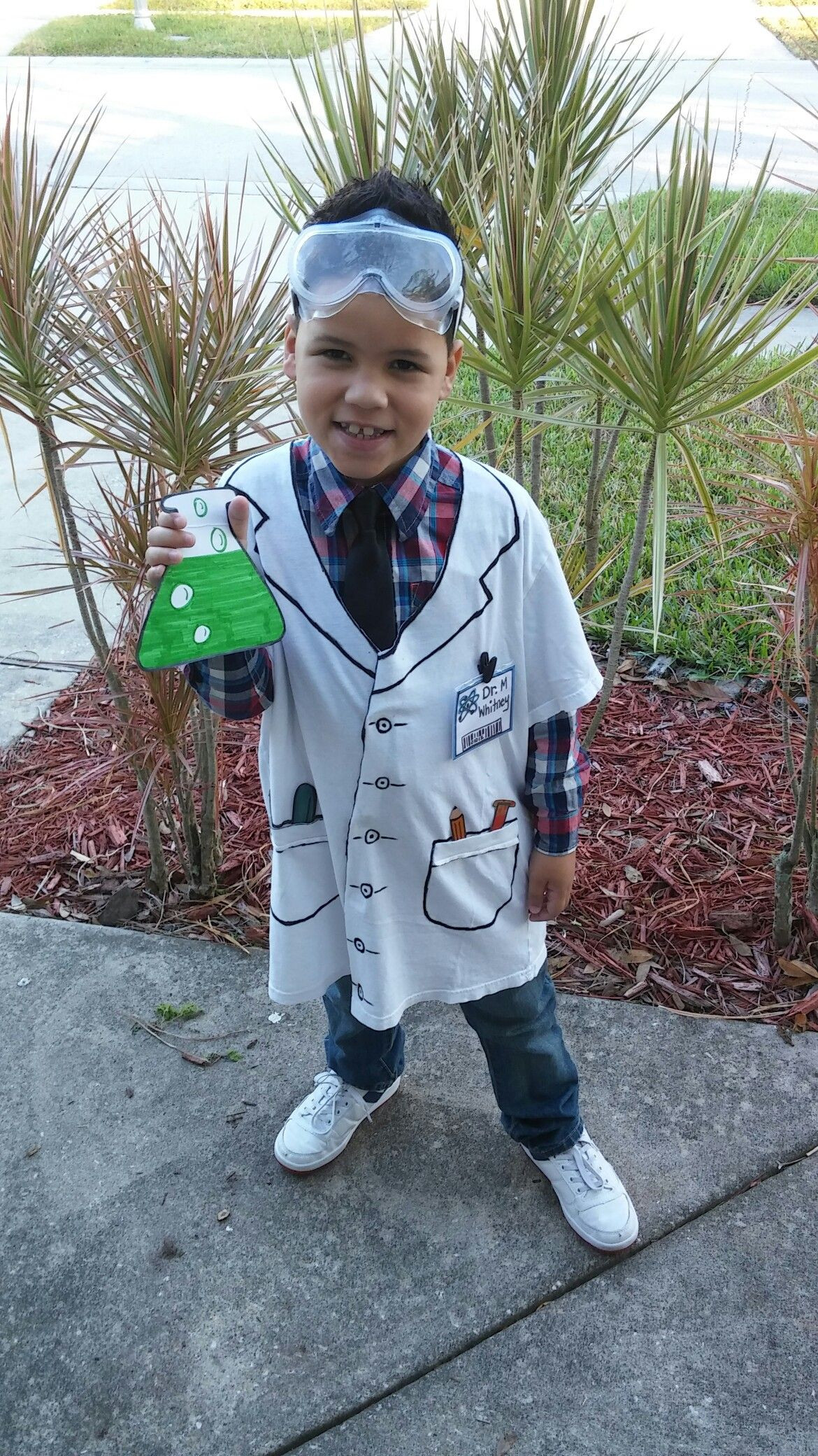 Best ideas about DIY Mad Scientist Costume . Save or Pin T shirt and marker scientist lab coat for career day at Now.